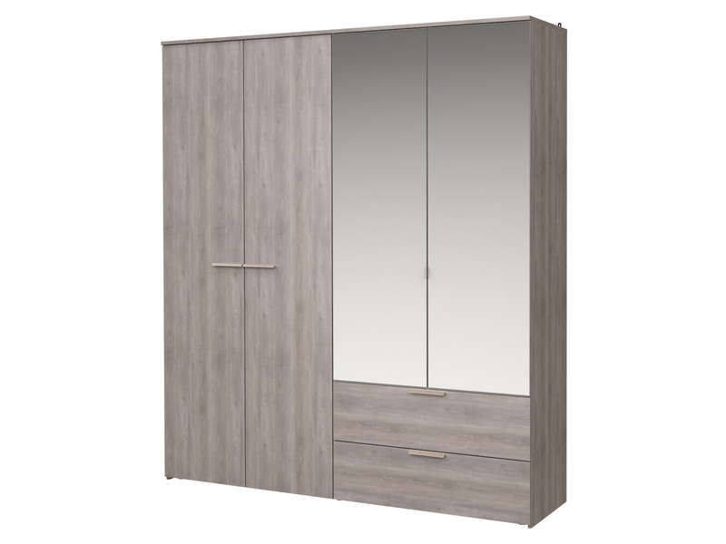 armoire 4 portes battantes tempo 2 vente de armoire conforama. Black Bedroom Furniture Sets. Home Design Ideas