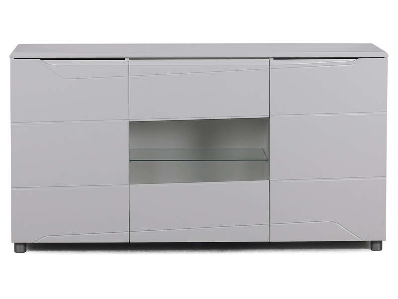 Buffet 3 portes newport coloris blanc vente de buffet for Buffet sejour blanc