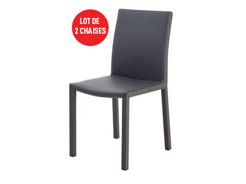 lot de 2 chaises chacha coloris gris vente de table et chaises de jardin conforama. Black Bedroom Furniture Sets. Home Design Ideas