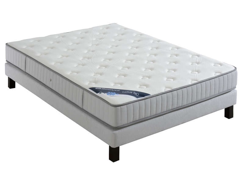 matelas ressorts 160x200 cm simmons lotus hd vente de matelas 2 personnes conforama. Black Bedroom Furniture Sets. Home Design Ideas