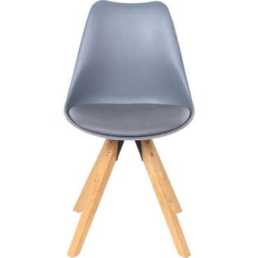 Chaise FOXTROT coloris gris
