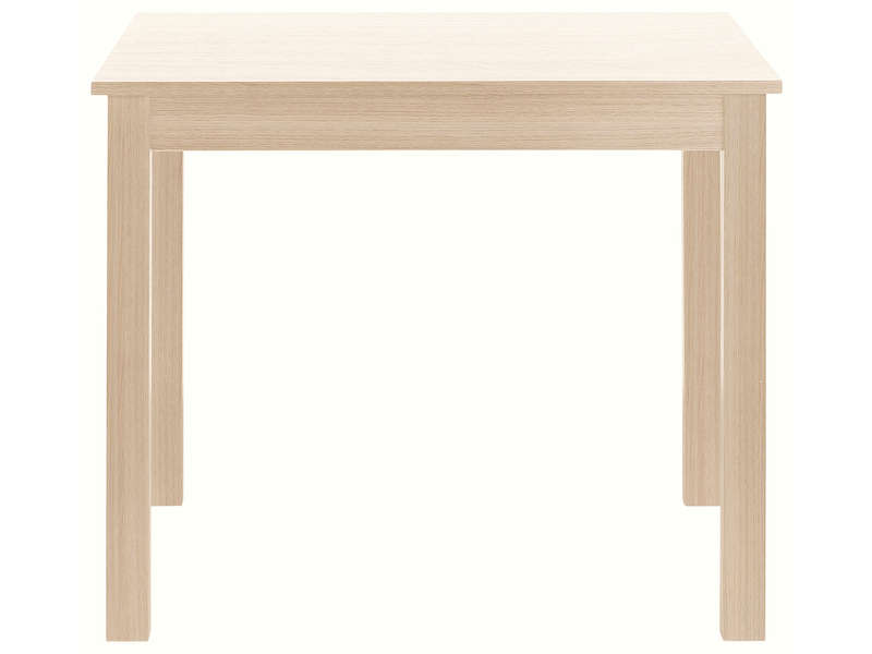 Table carr e avec allonge 130 cm max nova coloris ch ne vente de table conforama for Table de sejour carree
