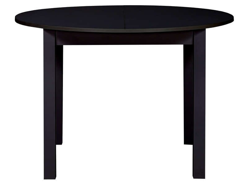 Table ronde avec allonge 160 cm max nova coloris noir for Table de cuisine ronde chez conforama