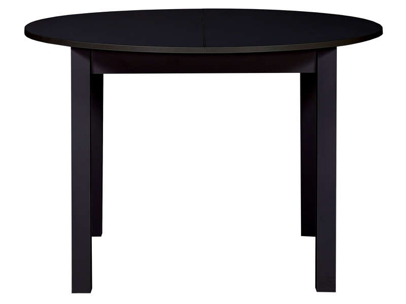 table ronde avec allonge 160 cm max nova coloris noir. Black Bedroom Furniture Sets. Home Design Ideas