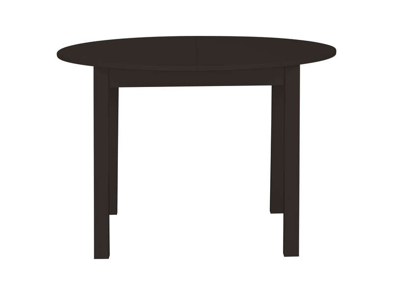 table ronde avec allonge 160 cm max nova coloris weng chez conforama. Black Bedroom Furniture Sets. Home Design Ideas