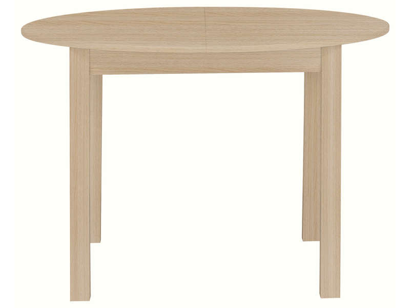 Table ronde avec allonge 160 cm max nova coloris ch ne for Table ronde 110 cm avec rallonge