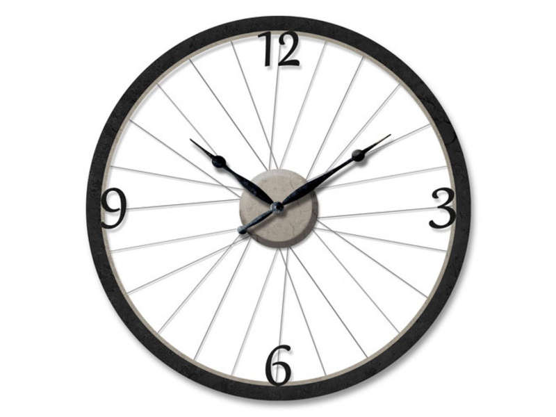 horloge 60 cm bike coloris noir vente de horloge conforama. Black Bedroom Furniture Sets. Home Design Ideas