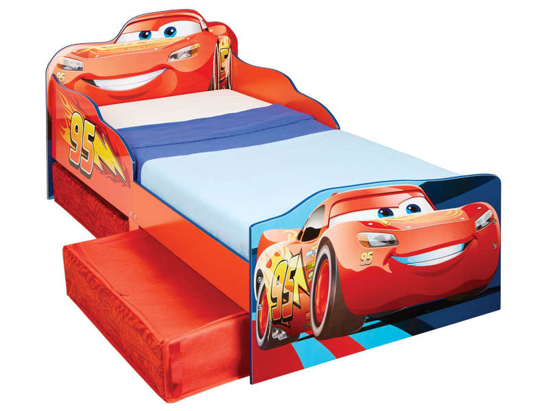 lit pour enfant avec espace de rangement disney cars vente de cars conforama. Black Bedroom Furniture Sets. Home Design Ideas