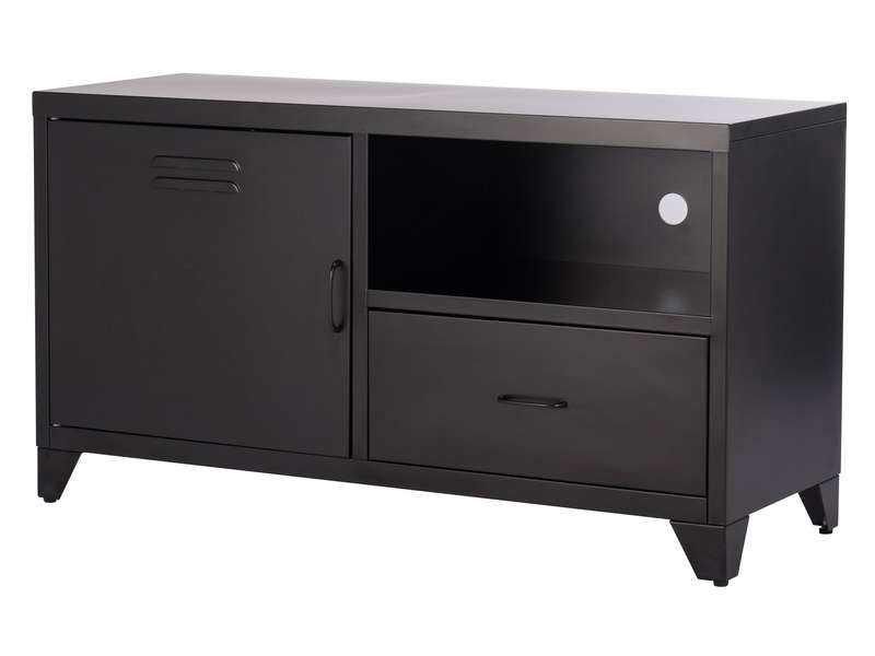 meuble tv 40 cm tork coloris noir chez conforama. Black Bedroom Furniture Sets. Home Design Ideas