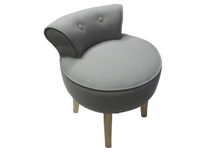 fauteuil en tissu duchesse coloris gris vente de chaise de jardin conforama. Black Bedroom Furniture Sets. Home Design Ideas