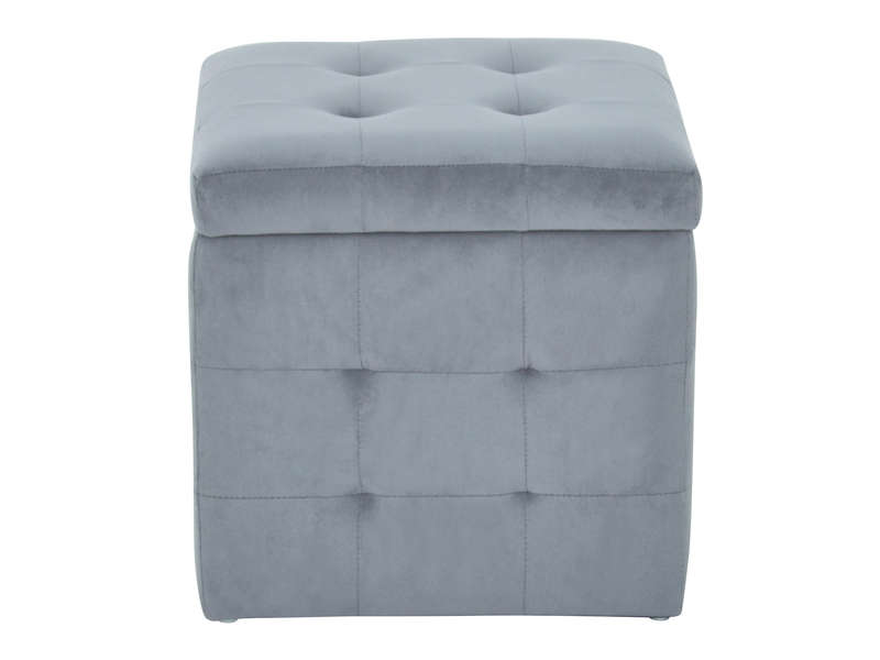 pouf avec coffre de rangement caroline 2 coloris gris. Black Bedroom Furniture Sets. Home Design Ideas
