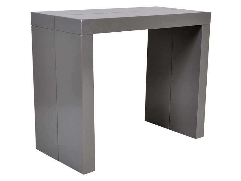 console extensible 180 cm olga coloris gris vente de console conforama. Black Bedroom Furniture Sets. Home Design Ideas