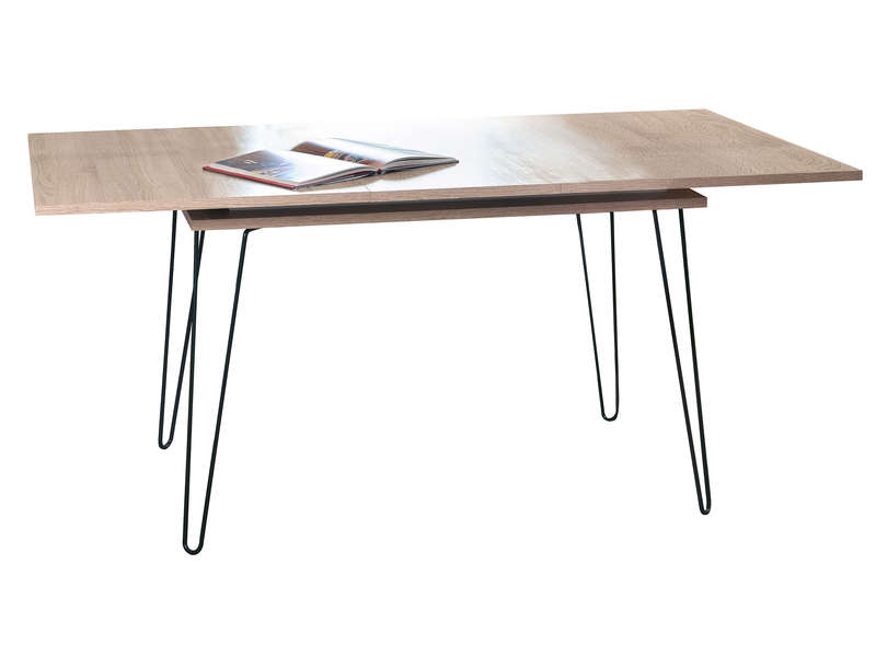 Table Rectangulaire Avec Allonge 174 Cm Aero Coloris Chene Naturel