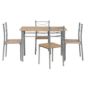 Ensemble table rectangulaire 4 chaises de cuisine tutti for Ensemble meuble cuisine
