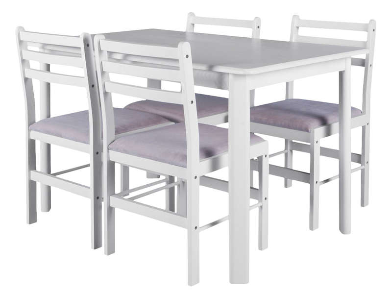 Ensemble table 4 chaises de cuisine wallas vente de ensemble table et chaise conforama - Table de cuisine amovible ...