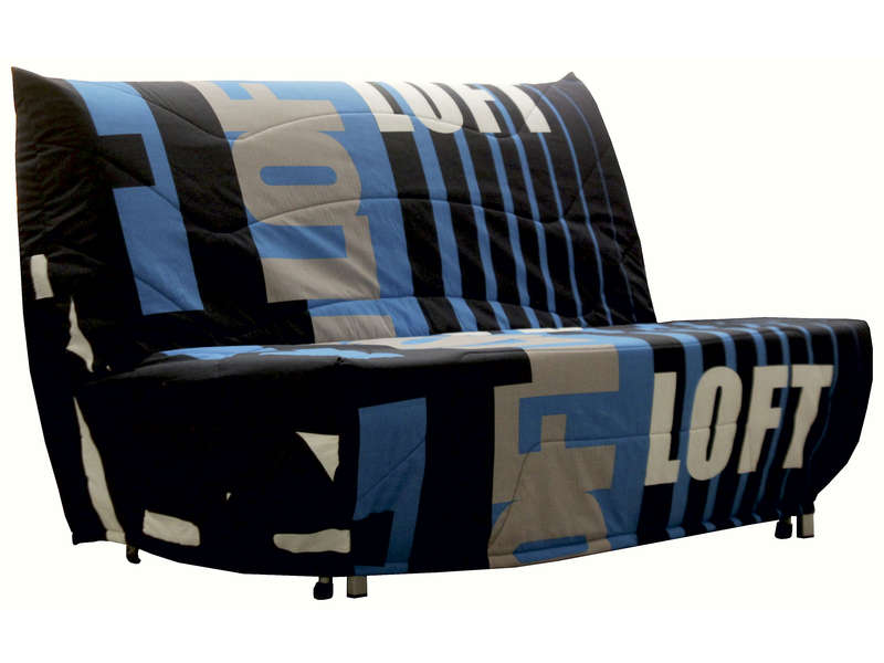 banquette lit bz loft coloris bleu vente de banquette bz conforama. Black Bedroom Furniture Sets. Home Design Ideas