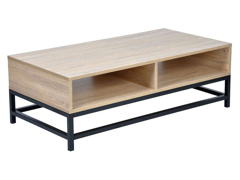 table basse rectangulaire camden coloris ch ne noir vente de table basse conforama. Black Bedroom Furniture Sets. Home Design Ideas