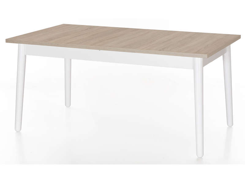 Table rectangulaire avec allonge 220 cm dublin coloris ch ne sonoma blanc vente de table - Table rectangulaire avec allonge ...