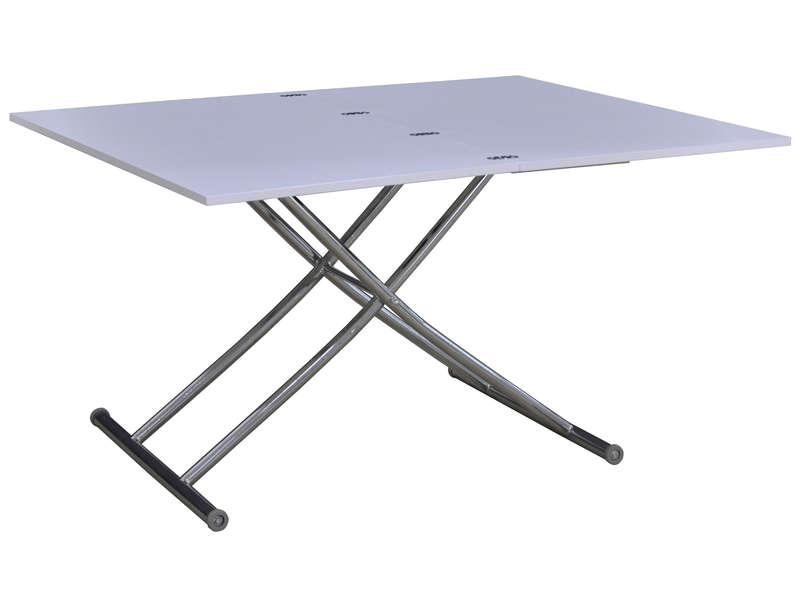 Table pliante 70 cm VERSO coloris blanc - Vente de Table et chaises ...