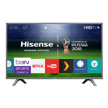 t l viseur ultra hd 4k 123 cm hisense h49n5700. Black Bedroom Furniture Sets. Home Design Ideas
