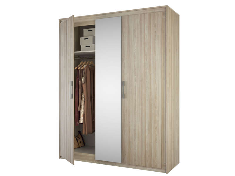armoire 3 portes austral vente de armoire conforama. Black Bedroom Furniture Sets. Home Design Ideas