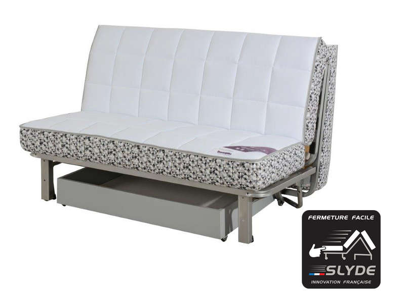 banquette bz 140 x 190 cm slyde cocooning dunlopillo vente de banquette bz conforama. Black Bedroom Furniture Sets. Home Design Ideas