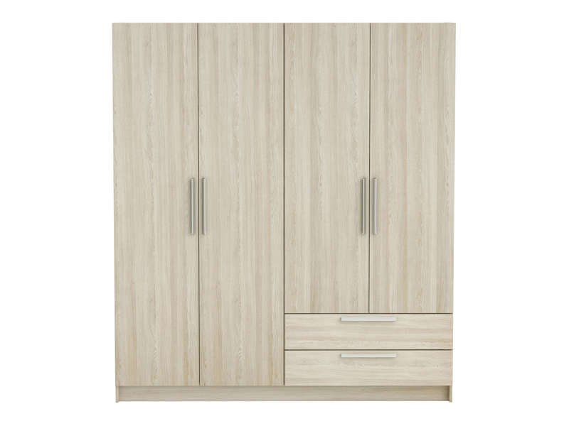 armoire 4 portes glory coloris ch ne shanon vente de armoire conforama. Black Bedroom Furniture Sets. Home Design Ideas