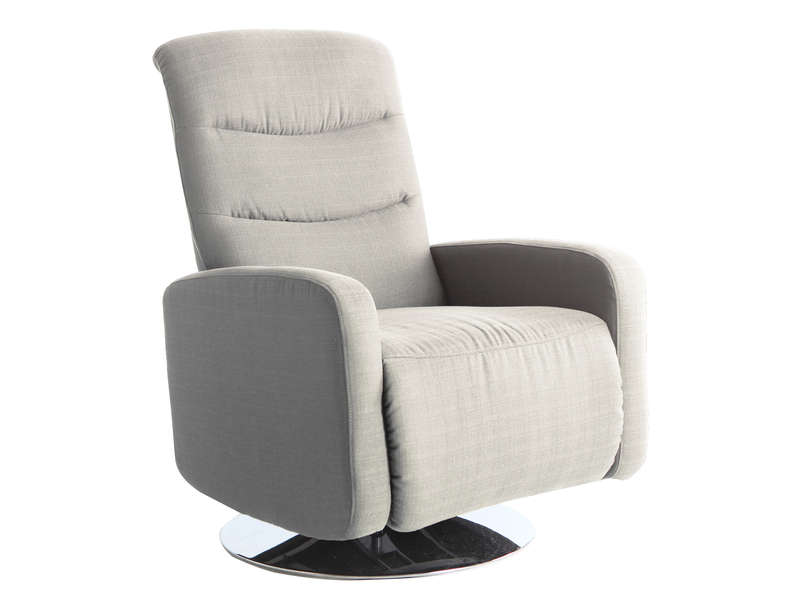 fauteuil de relaxation en tissu malibu coloris beige. Black Bedroom Furniture Sets. Home Design Ideas