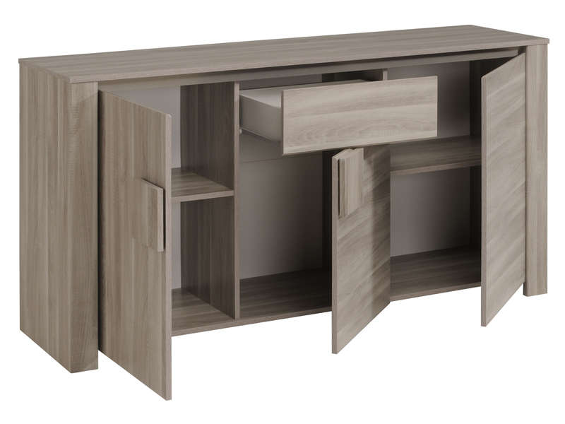 Buffet 3 portes warren silex vente de buffet de cuisine for Miroir warren silex