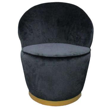 Fauteuil en tissu TULIPE coloris noir