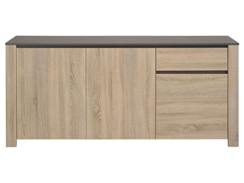 Buffet 3 Portes 1 Tiroir Demon Coloris Naturel Vente De Buffet De