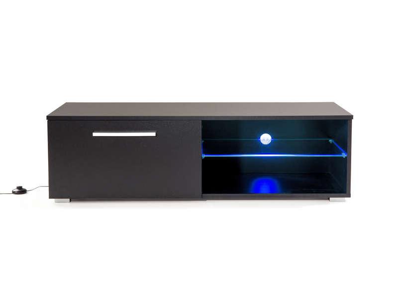 Meuble TV L. 120 cm OHIO coloris noir