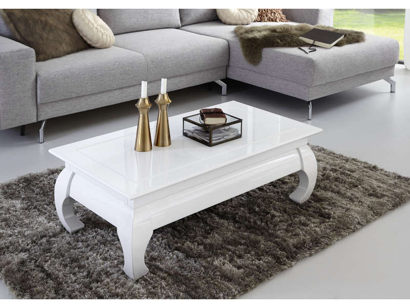 table basse rectangulaire opium coloris blanc vente de table basse conforama. Black Bedroom Furniture Sets. Home Design Ideas