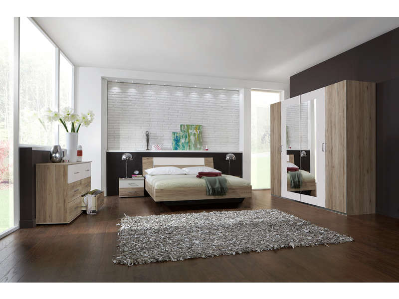 chambre compl te ginny vente de chambre compl te conforama. Black Bedroom Furniture Sets. Home Design Ideas