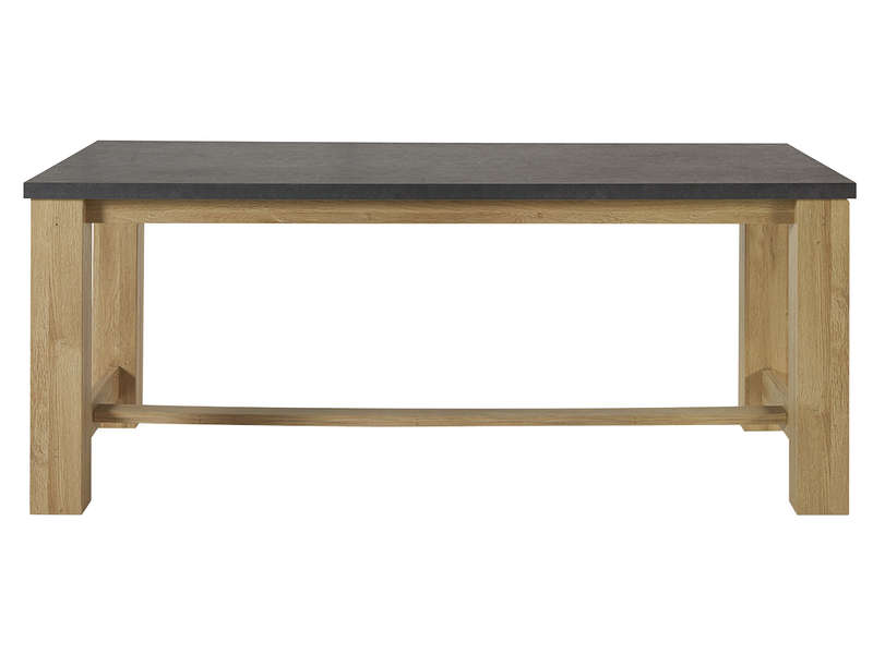 table rectangulaire broceliande coloris htre et gris anthracite effet bton vente de table conforama