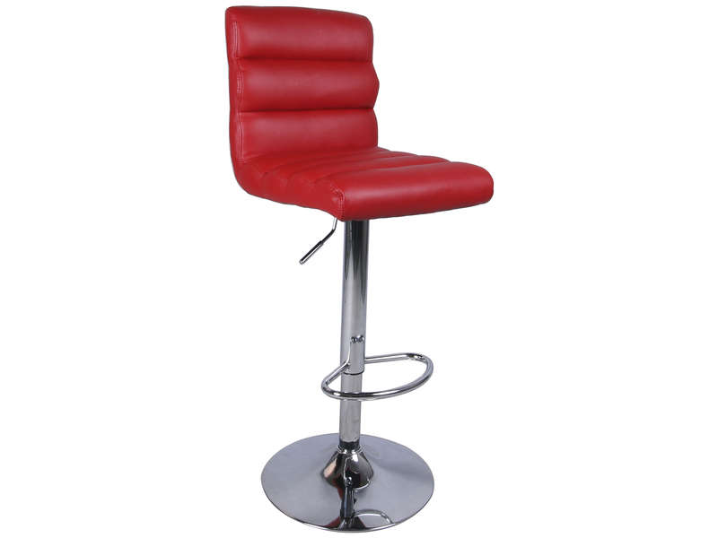 Tabouret de bar CITY coloris rouge