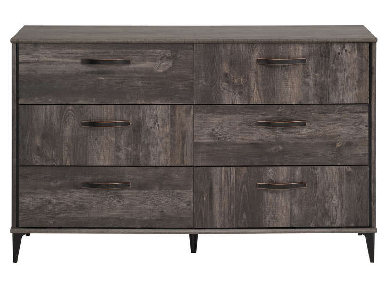 commode 6 tiroirs belleville chez conforama. Black Bedroom Furniture Sets. Home Design Ideas