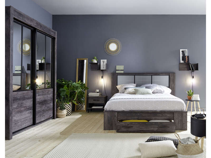 armoire belleville vente de armoire conforama. Black Bedroom Furniture Sets. Home Design Ideas