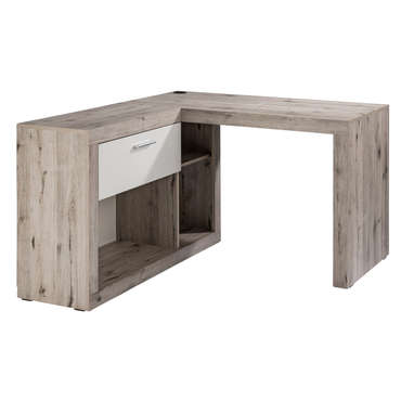 Bureau dangle 137 cm NASSAU coloris sablechne et blanc Vente