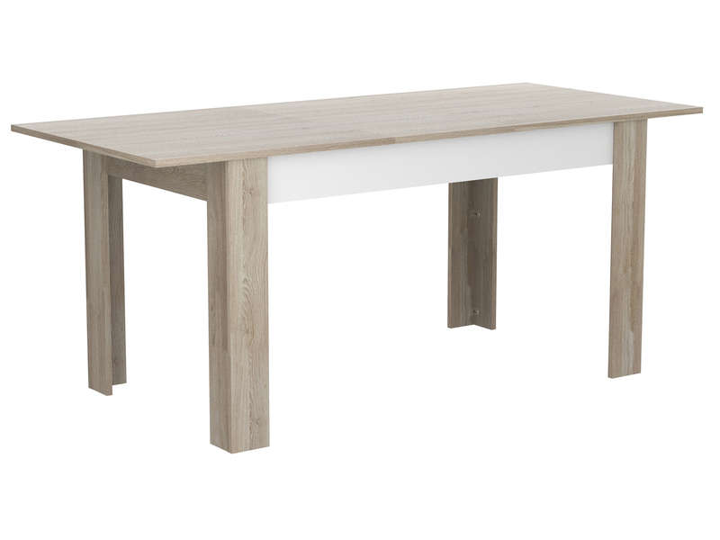 Table 142 cm avec allonge malmo chez conforama for Table largeur 70 cm avec rallonge