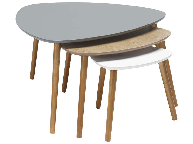 Lot De 3 Tables Gigognes Agnes Vente De Table Basse Conforama