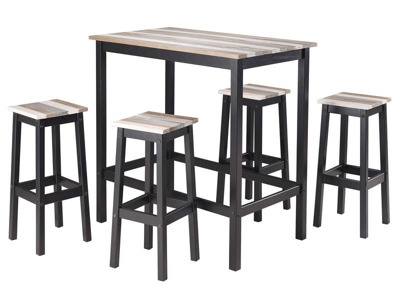 Table haute 4 tabourets turner vente de ensemble table - Conforama table de cuisine et chaises ...