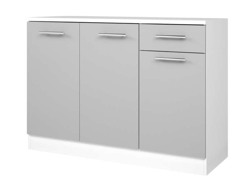 Buffet Bas L 120 Cm Center Coloris Blanc Gris Vente De