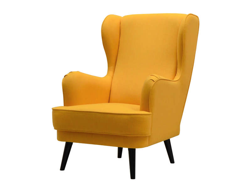 fauteuil tissu willy coloris jaune vente de tous les fauteuils conforama. Black Bedroom Furniture Sets. Home Design Ideas