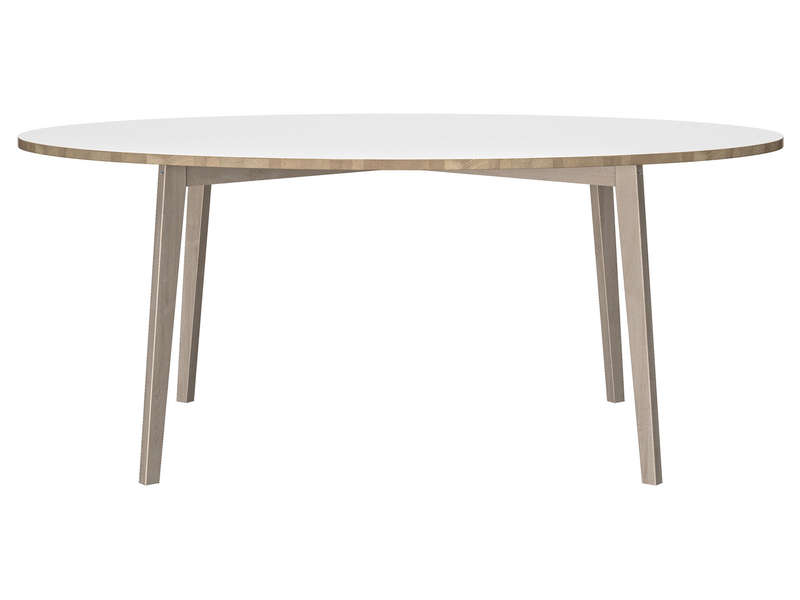 Table ovale 190 cm niels coloris blanc ch ne chez conforama for Table cuisine ovale conforama