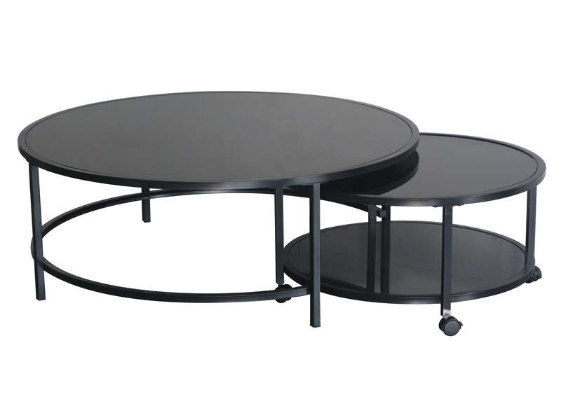 Table Basse Logan Coloris Noir Vente De Table Basse