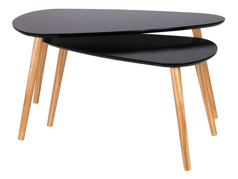 tables basses gigognes hanna coloris noir vente de table. Black Bedroom Furniture Sets. Home Design Ideas