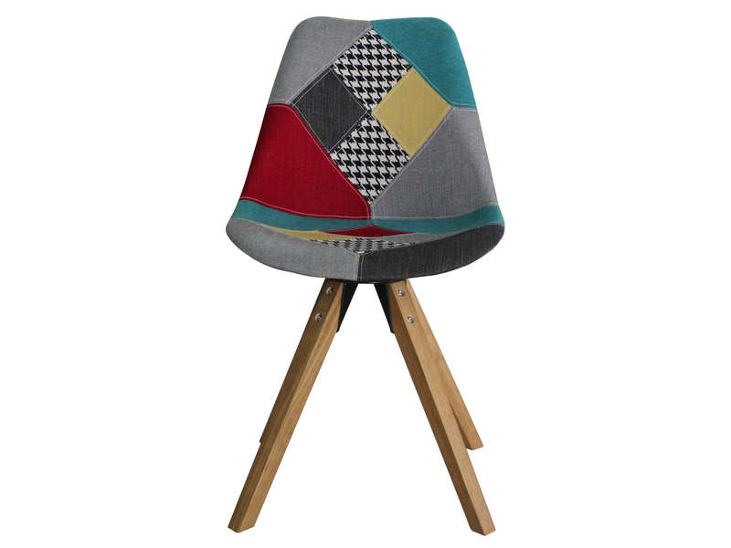 Chaise patchwork foxtrot vente de chaise conforama for Chaise patchwork