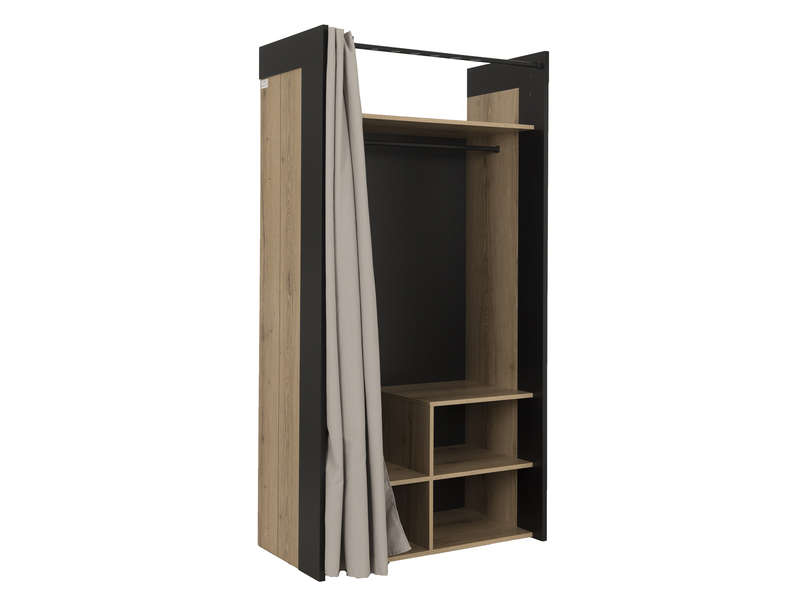 dressing harlem vente de dressing conforama. Black Bedroom Furniture Sets. Home Design Ideas