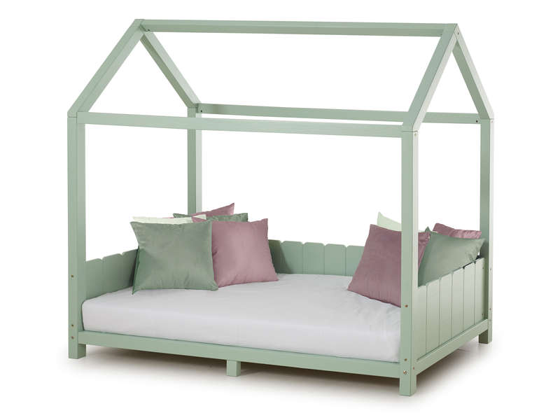 lit cabane 90x190 cm monty coloris vert amande vente de lit enfant conforama. Black Bedroom Furniture Sets. Home Design Ideas